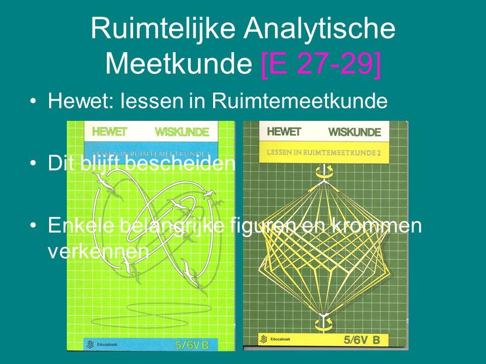 Ruimtelijke Analytische Meetkunde [E 27-29]